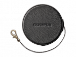 Olympus LC-60.5GL BLK Genuine Leather Lens Cover (60.5 mm) - black