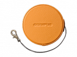 Olympus LC-60.5GL LBR Genuine Leather Lens Cover (60.5 mm) - light brown