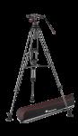 Manfrotto Nitrotech N12 video fej & karbon állvány,ikerláb, középterp. 100/75mm (MVKN12TWINMC)