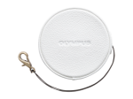 Olympus LC-60.5GL WHT Genuine Leather Lens Cover (60.5 mm) - white
