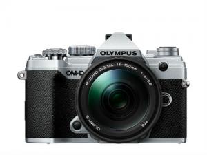 Olympus E-M5III 14-150II Kit ezüst/fekete, E-M5 Mark III ezüst + EZ-M1415-2 fekete