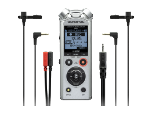 Olympus LS-P1 Interviewer Kit incl. 2x Lavalier Mic and Stereo Breakout Cable