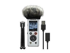 Olympus LS-P1 Podcaster Kit mini Tripoddal, Windscreen and USB Cable