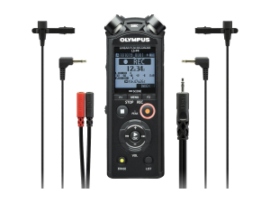 Olympus LS-P4 Interviewer Kit incl. 2x Lavalier Mic and Stereo Breakout Cable