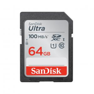 Sandisk SDXC 64 GB Ultra memóriakártya (100 MB/s) UHS-1, class 10 (186469)